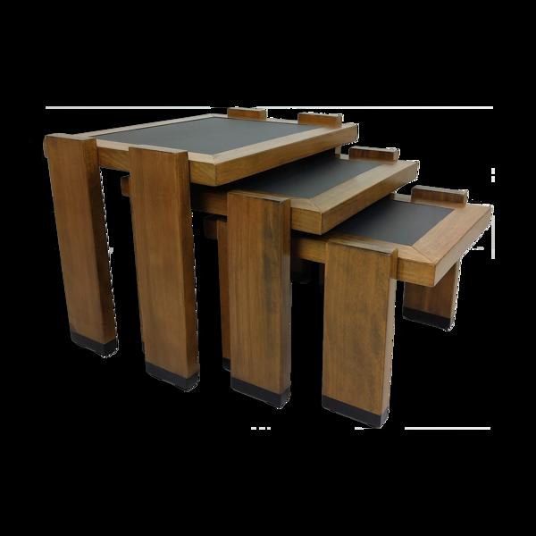 Selency Set de 3 tables gigognes vintage 1960