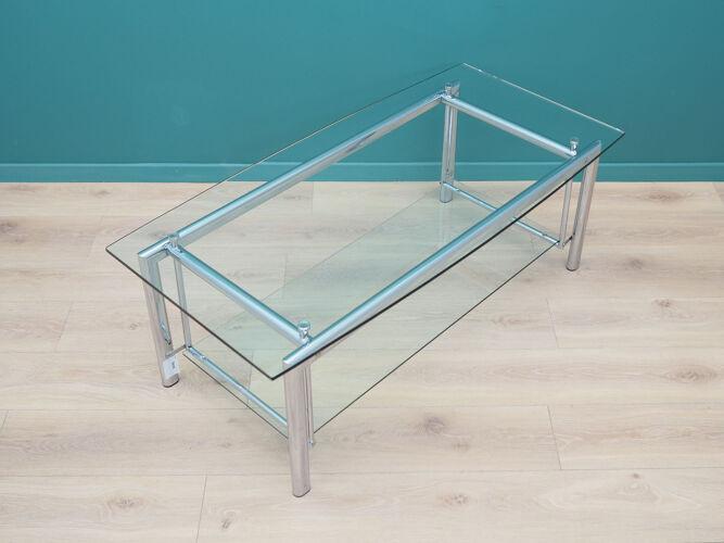 Glass table, Danish design, 1970s, made in Denmark