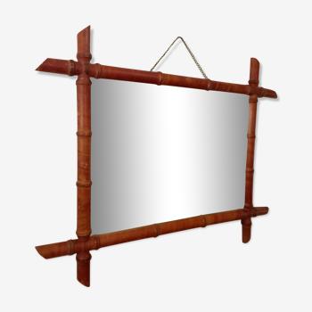 Miroir bambou 68 X 55 cm