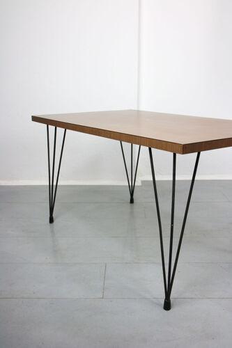 Lampadaire et table basse du milieu du siècle, années 1950