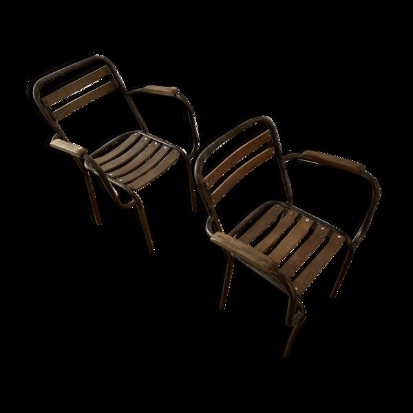 Chaises bois et métal
