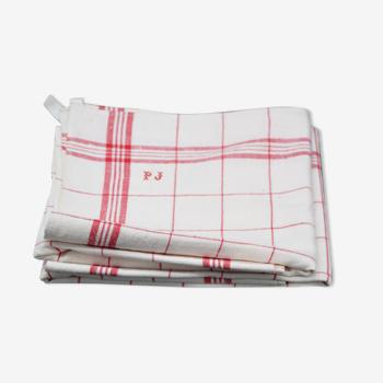 Old nineteenth tea towel
