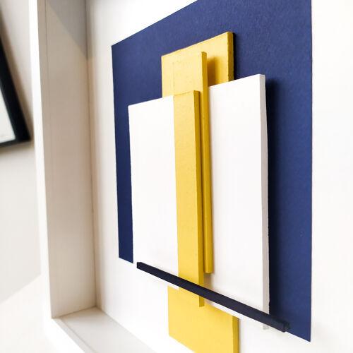 Structure en jaune et bleu n°1