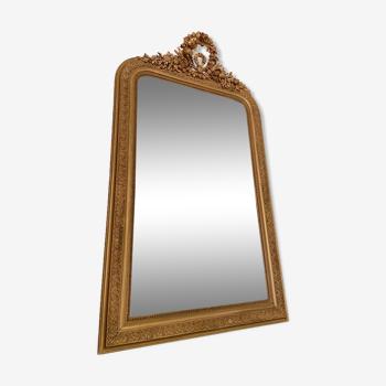Miroir Louis Philippe à fronton XIXème