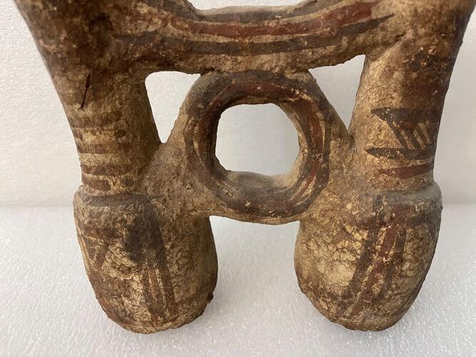 Pichet double terre cuite XVII e siècle ou avant,  Maroc