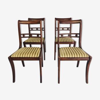 Lot de 4 chaises style anglais