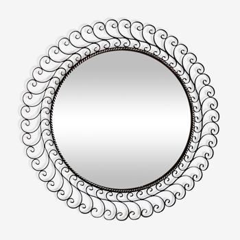 Miroir soleil métal 1950