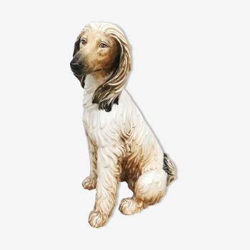 Vintage sculpture de statue de chien en céramique italienne XL
