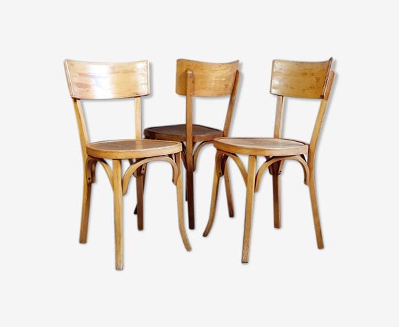 Lot 3 chaises bistrot Baumann n°129