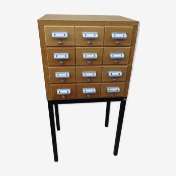 Meuble a tiroir Borgeaud vintage meuble de métier Top design