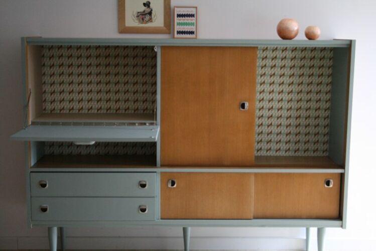 Buffet-bibliothèque scandinave