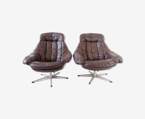 Paire de fauteuils par H.W. Klein pour Bramin