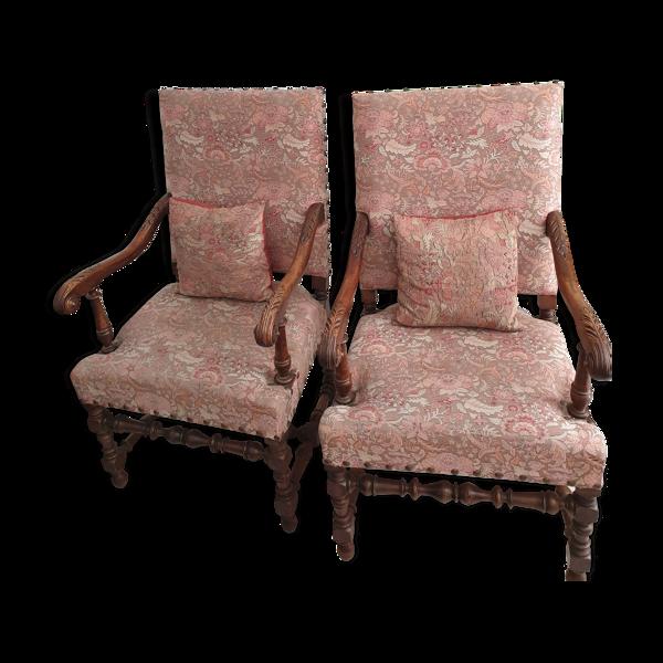 Lot de deux fauteuils