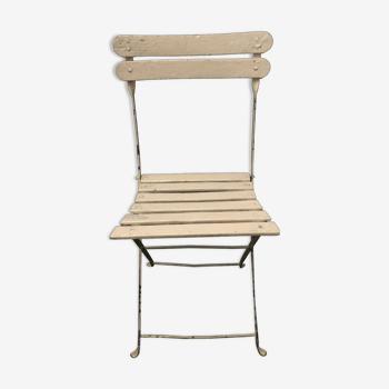 Chaise pliante bois et métal