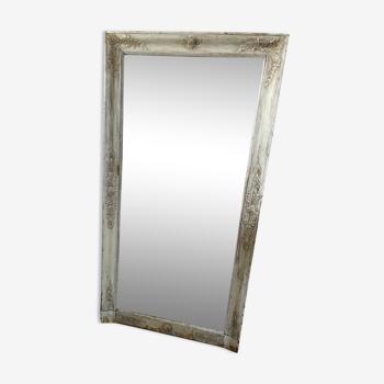 Miroir en bois fin XIX patiné