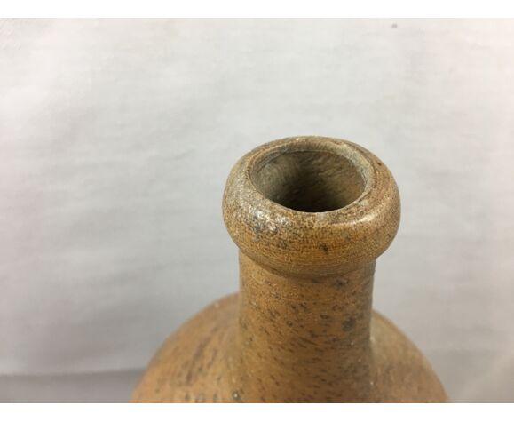 Ancienne bouteille en grès vernissée vintage