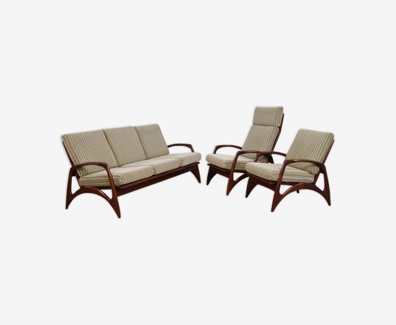 Ensemble de 2 fauteuils et canapé en teck par de Ster, années 1960