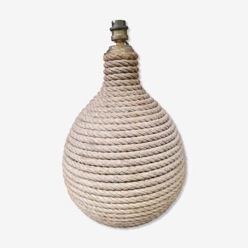 Vintage hemp rope lamp