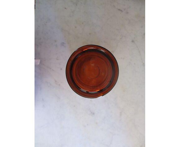Bocal en verre ambré de pharmacie