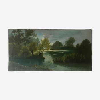 Huile panoramique, Henriette Legras 1942