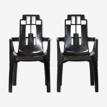 Ensemble de chaises Boston de Pierre Paulin