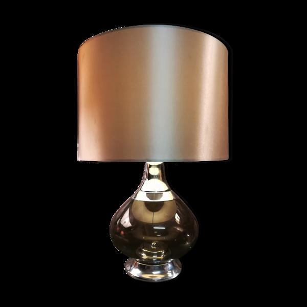 Lampe en verre et chrome