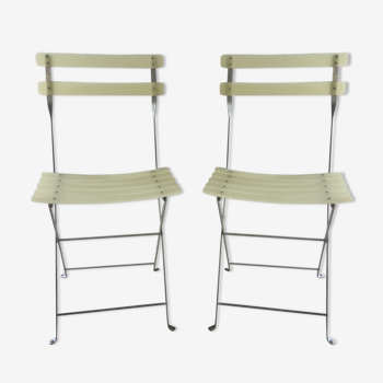 Set de 2 chaises pliantes d'appoint