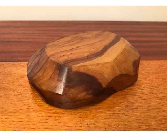 Cendrier vide poche en bois d'olivier