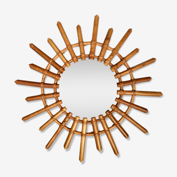 Mirror rattan sun 58 cm years 60