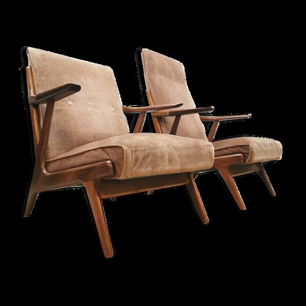 Selency Paire de 2 fauteuils