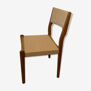 Chaise scandinave rénovée sangle jute