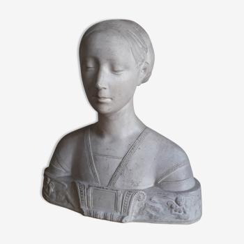 Buste en plâtre de femme ateliers du Louvre