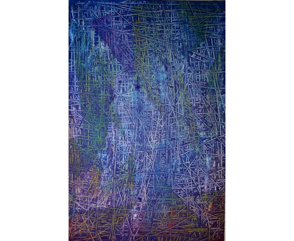 Peinture abstraite - 27x41 cm