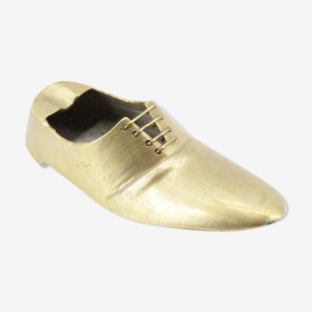 Cendrier chaussure en laiton