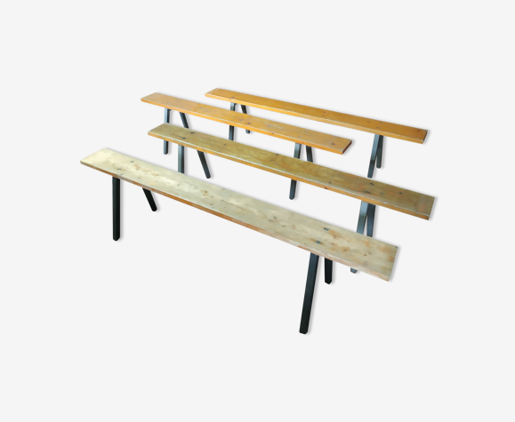 Lot de 4 bancs industriel
