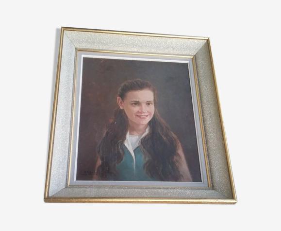 Huile sur toile signée 51 cm x 60 cm