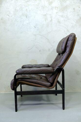 Fauteuil en cuir du milieu du siècle par Oy BJ Dahlqvist pour BD Furniture, années 1960