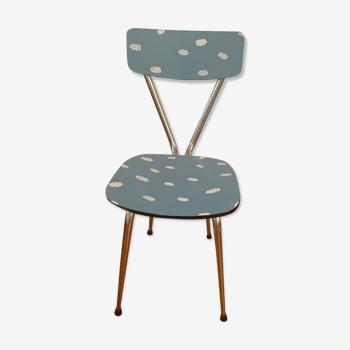 Chaise en formica vintage relookée