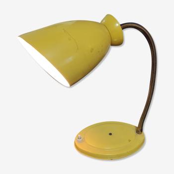 Lampe articulé de bureau jaune