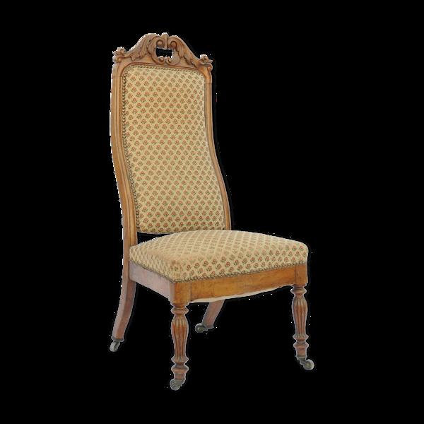 Chaise basse de style Louis Philippe