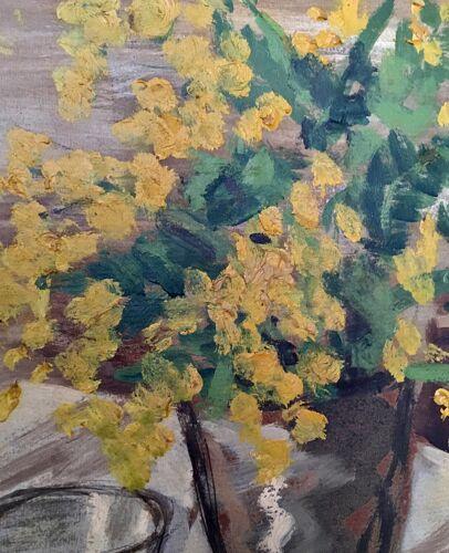 Nature morte au mimosa
