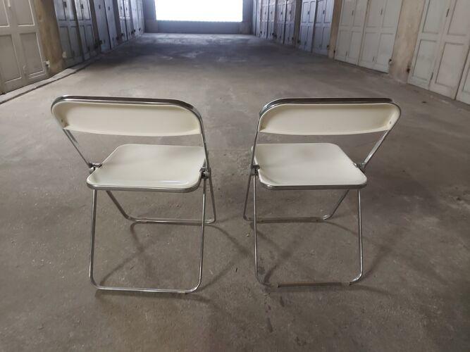 Set de 2 chaises pliantes Plia Castelli par Giancarlo Piretti