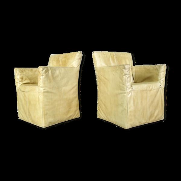 Paire de fauteuils de Gerard van den Berg pour Montis, années 1970