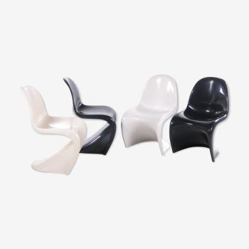 Ensemble de 4 chaises de Verner Panton fabriquées par Herman Miller