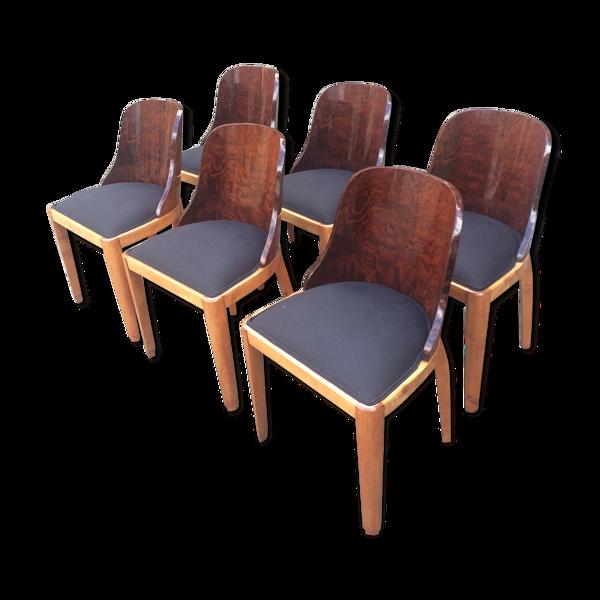 Selency Suite de six chaises gondoles art déco