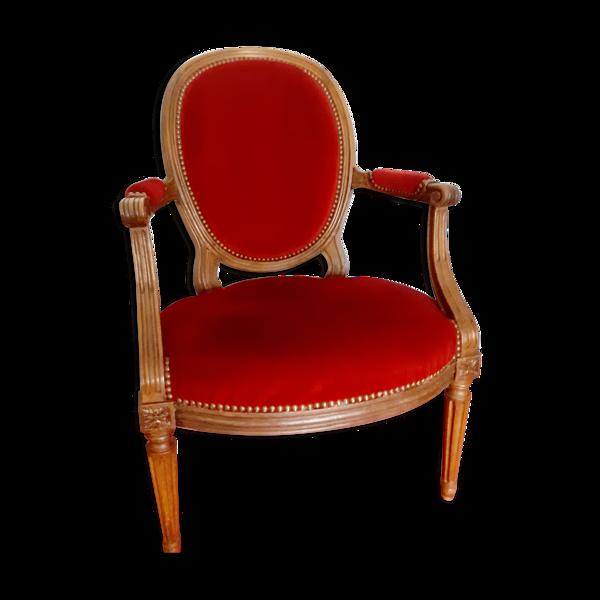 Fauteuil médaillon Louis XV