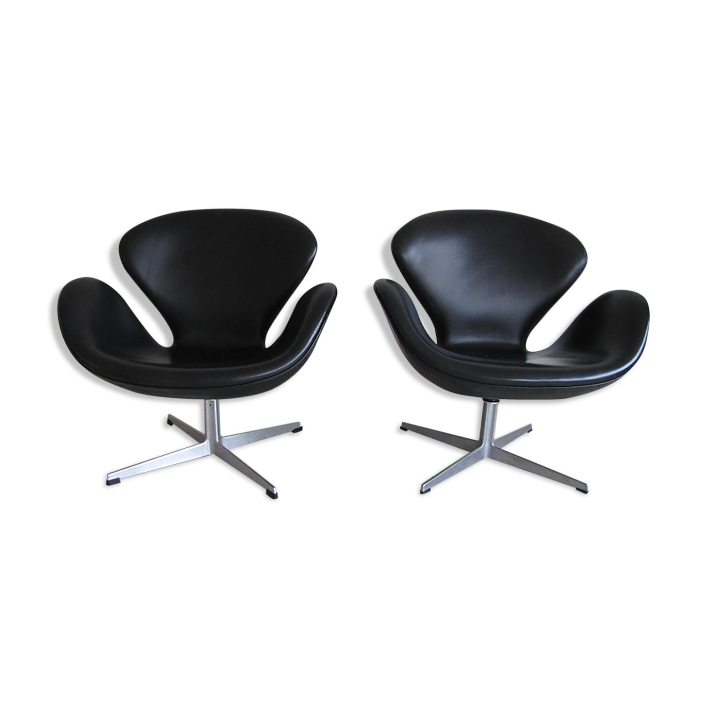 Paire de fauteuils Swan par Arne Jacobsen pour Fritz Hansen