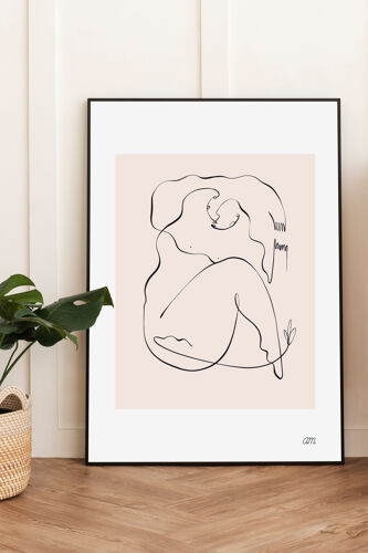"""Illustration n°13 """" Âme songeuse """" collection """" Les divinités """""""