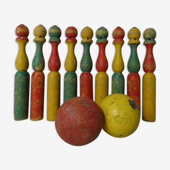 Ancien jeu de quilles en bois