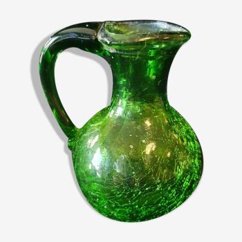 Pichet en verre craquelé